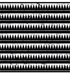 Seamless aztec tribal pattern- grunge retro style vector image