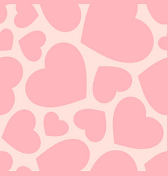 Seamless pattern with big pink hearts vector