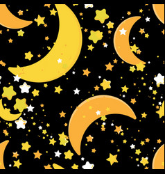 seamless repeating background with stars and vector image