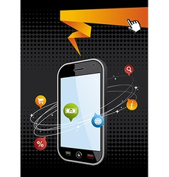 Smartphone application background vector image