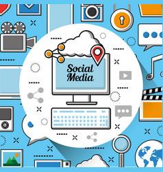 Social media networks vector