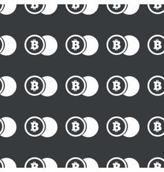 Straight black bitcoin coin pattern vector