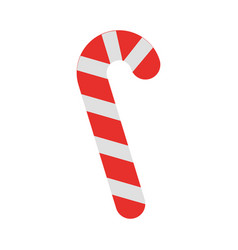 sweet christmas cane icon vector image