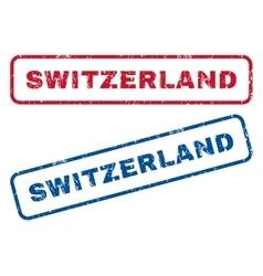 Switzerland Rubber Stamps vector image