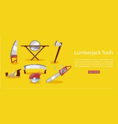 timber industry lumberjack vector image