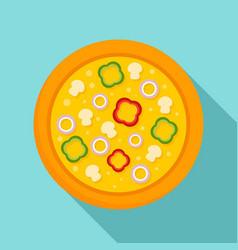 vegetarian pizza icon flat style vector image