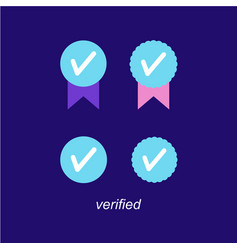 Verified icon logo design vector