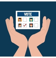 Vote and election design vector