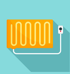 warm electric blanket icon flat style vector image
