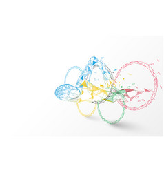 water swim sport with olympic rings vector image