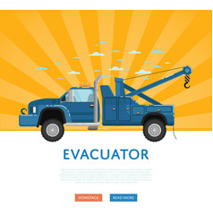 Website design with tow truck vector
