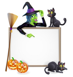 Witch halloween sign vector