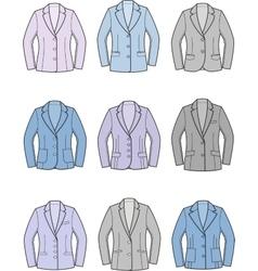 Women business jacket vector