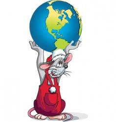 rat earth vector image