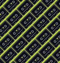 seamless cassette tape pattern vector image vector image