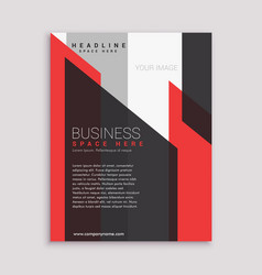 business flyer brochure design template in red vector image vector image