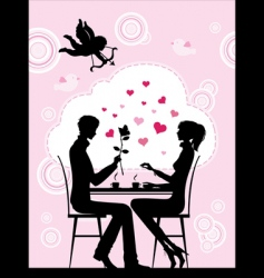 cafe couple vector image