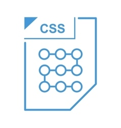 CSS file icon cartoon style vector image