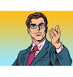 Friendly man businessman vector image vector image
