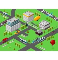 Isometric City Street vector image