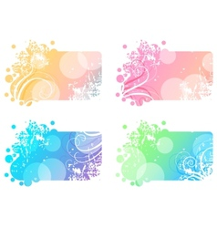 Set with four winter banners vector image