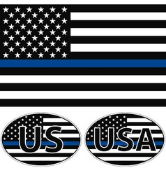 USA flag blue stripe vector image
