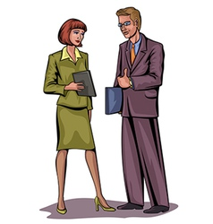 couple businessmen vector image