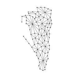 Gibraltar map of polygonal mosaic lines network vector