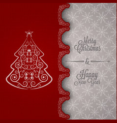 holiday merry christmas new year vector image