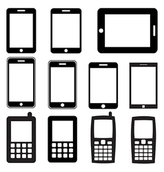 Set of mobile phones and tablets eps 10 vector image vector image