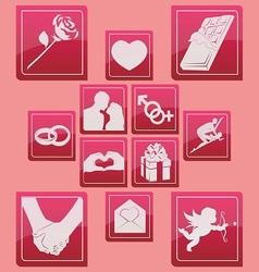 valentine days icon set basic style vector image