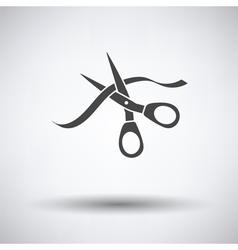 Ceremony ribbon cut vector image