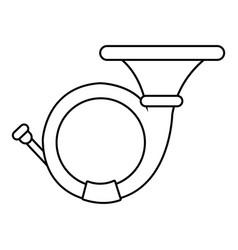 cornet icon outline style vector image