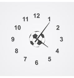 football clock vector image vector image