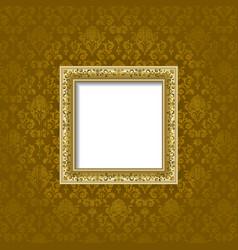 golden frame and background vector image