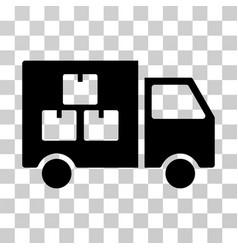 goods transportation car icon vector image vector image