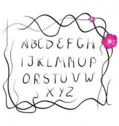 plant alphabet vector image