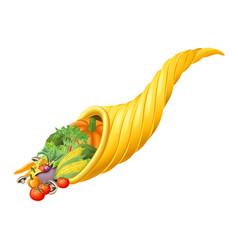 thanksgiving or harvest festival cornucopia horn vector image