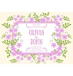 Wedding invitation card invitation card vector image vector image