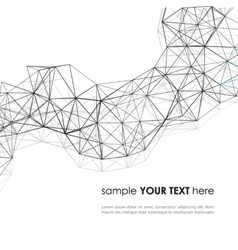 Wireframe Surface Background vector image