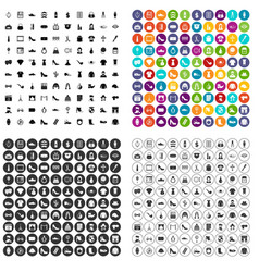 100 stylist icons set variant vector