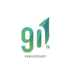 90 th anniversary logo template design vector