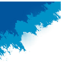 Abstract blue grunge background with halftone vector