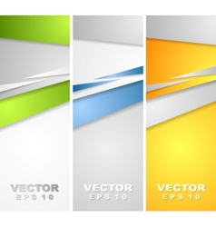 Abstract bright banners vector