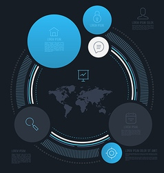 Abstract circle info graphics vector