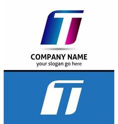 Alphabetical Logo Design Concepts Letter T vector