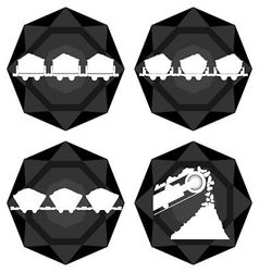 Badges coal industry vector image