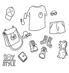 boy style line vector image