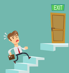 Businessman going upstairs steadily vector