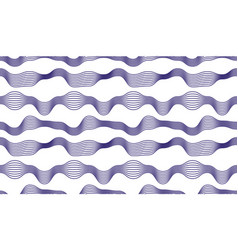 chaotic waves seamless pattern curve lines vector image